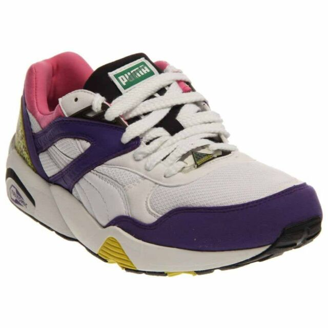 60222bc2119 Puma Trinomic R698 Crackle Running Shoes - White - Mens