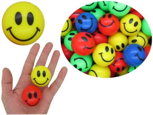 Spielzeug Flummis Smiley XXL 4,5 cm Flummi Hüpfball Springball Hüpf Gummi Ball Dopsball
