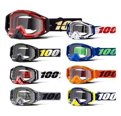 100% Racecraft S18 Crossbrille Mx Enduro Downhill Goggle Occhiali-mostra Il Titolo Originale Senza Ritorno