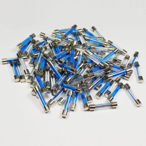 100 X 35 Amp Fusible de Vidrio 6x30mm 35 A Amperios rápido Blow Fusibles-a 6 X 30 mm