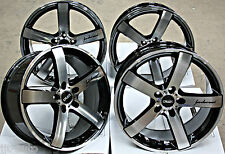 "19"" CRUIZE BLADE BLACK & POLISHED CONCAVE ALLOY WHEELS 5X108 19 INCH ALLOYS"