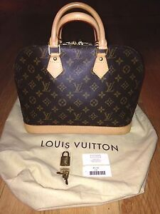 Image Is Loading Authentic Louis Vuitton Alma Pm Purse Bag Made