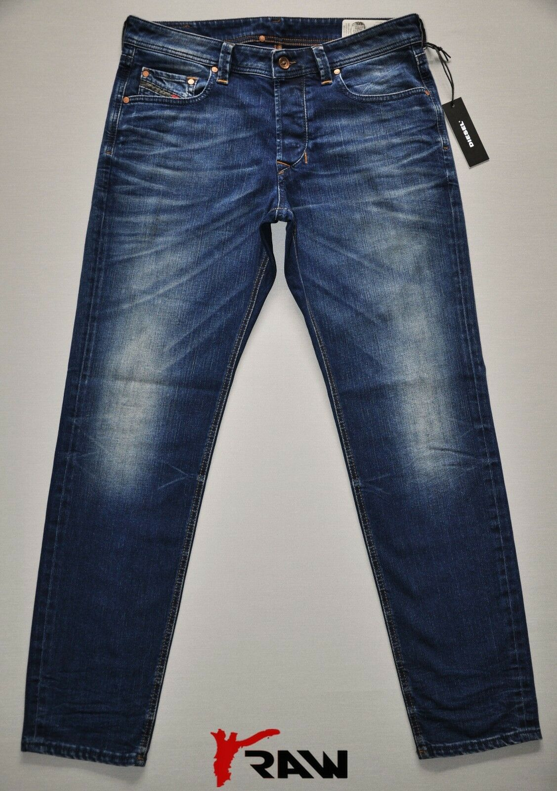 DIESEL LARKEE BEEX 084DR TAPERED NEW MAN   MENS JEANS STRETCH DARK blueE SIZES BN