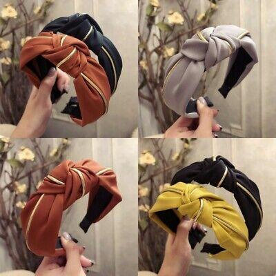 Hairband Wide Bow Headwear Hoop Hair Knot AU Headband Women Cross Twist Band Tie