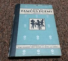 A BOOK OF FAMOUS PEOMS Vintage COMPLIED BY MARJORIE BARROS, copyright 1931