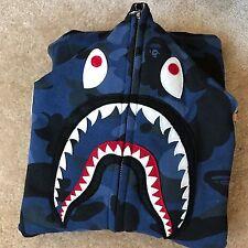 BAPE Shark Hoodie - Blue Camo - Medium  **Read Description Please**
