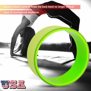 "12"" fitness yoga wheel roller extreme yoga pose stretching"