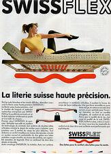 Publicité 1989  SWISSFLEX la literie suisse haute précision