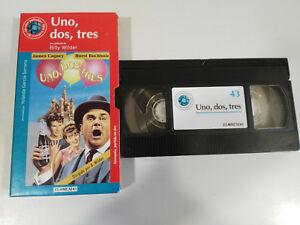UNO-DOS-THREE-BILLY-WILDER-CAGNEY-BUCHHOLZ-VHS-BOX-CARTON-SPANISH-THE-WORLD