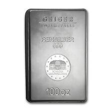 100 oz Silver Bar - Geiger (New Design, Security Line Series) - SKU #83341