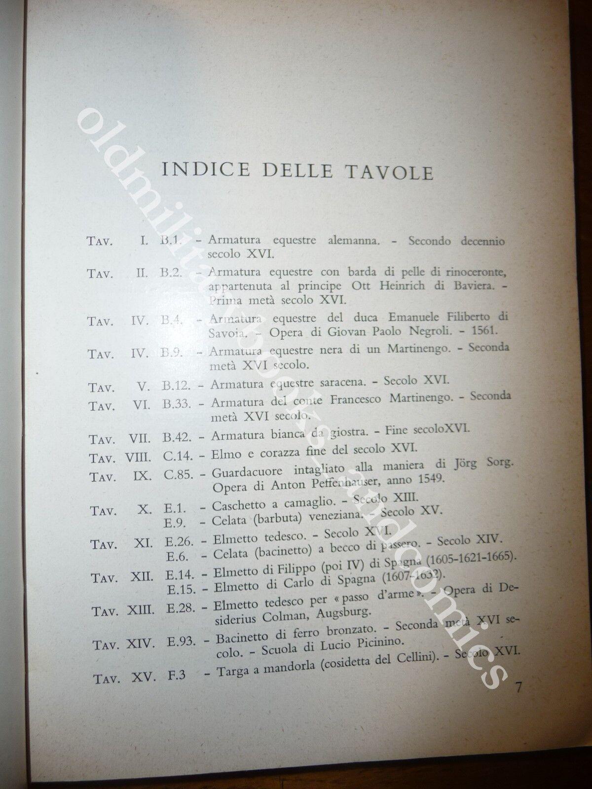 ARMERIA REALE DI TORINO GUIDA BREVE PER IL VISITATORE Ed. 1959