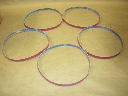 """Norton 1//2/"""" x 24/"""" 50 grit Sanding belts 5 pack"""