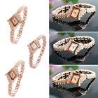 Stainless Steel Fashion Women's Crystal Bracelet Analog Quartz Wrist Watch New
