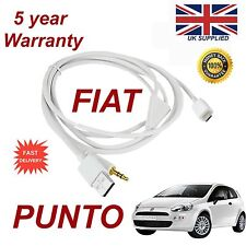 Fiat Punto para Samsung HTC Sony Micro Usb 3.5mm Aux Audio Cable Blanco