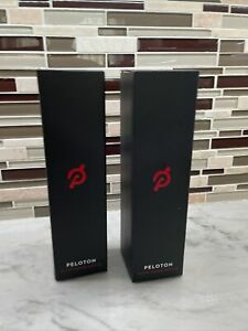 2 X Peloton Glass Water Bottle Pair New in Box Black Pair- Brand New