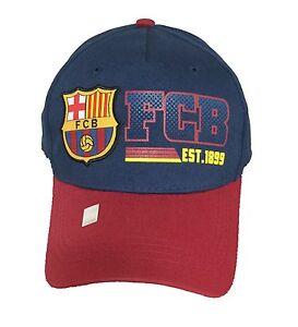 0c55fdfe400 FC BARCELONA SOCCER HAT CAP FCB OFFICIAL ADJUSTABLE licensed product ...