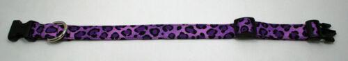 Purple Cheetah Animal Print Dog Collar Adjustable Handmade Custom Designer