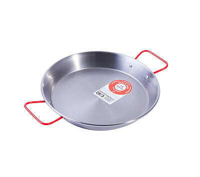 Polished Steel Paella Pan 28cm Paellera Valenciana Stainless Steel NEXT DAY