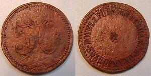 50 Pfennig Hotel Prince Bismark Swakopmund (Approx. 1900) Colonies: