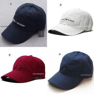 6738c7f45e9 TOMMY HILFIGER NEW MEN S BASEBALL CAP HAT BLUE NAVY WHITE RED BLUE ...