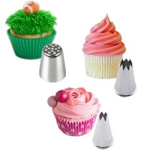 3pcs Cake Decorating Pastry Icing Piping Nozzles Grass ...