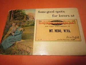 Vintage-Used-1915-Postcard-034-Lover-039-s-Central-RR-Mt-Neo-W-Va-034-Dan-Cupid-034-VG
