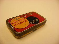"Phonograph Victrola Gramophone Needle Tin - Bohin - ""de LUXE"" - empty"