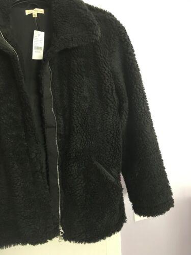 Colore La Taglia nero Sherpa Zip oversize M Jacket Nwt l Hearts Women Up r8q4Crw
