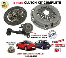 FOR NISSAN MICRA 1.6 SR + CABRIO K12  2005-  NEW CLUTCH PLATE COVER BEARING KIT