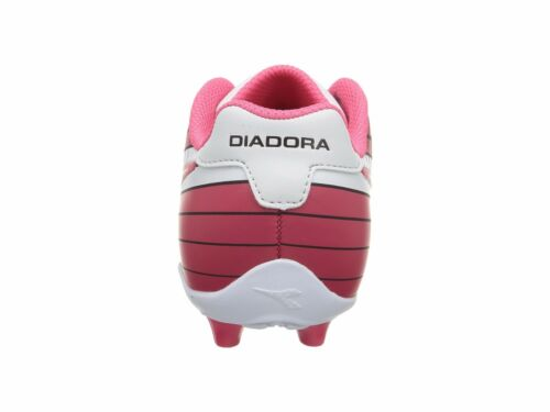 Pink Toddler Kids Youth Sizes White Diadora Ladro MD JR Soccer Cleats Black