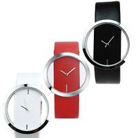Lady Women's Unisex Novelty Quartz Transparent Round Dial Hollow Wrist Watch BL