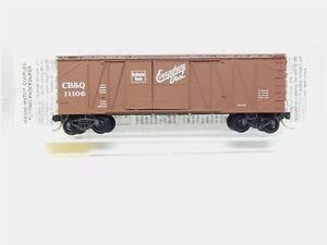 N-Scale-MTL-Micro-Trains-29060-CB-amp-Q-Burlington-Route-40-039-Box-Car-11106-RTR