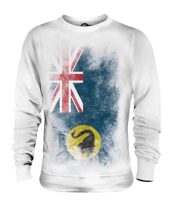 WESTERN AUSTRALIA FADED FLAG UNISEX SWEATER TOP AUSTRALIAN SHIRT JERSEY GIFT