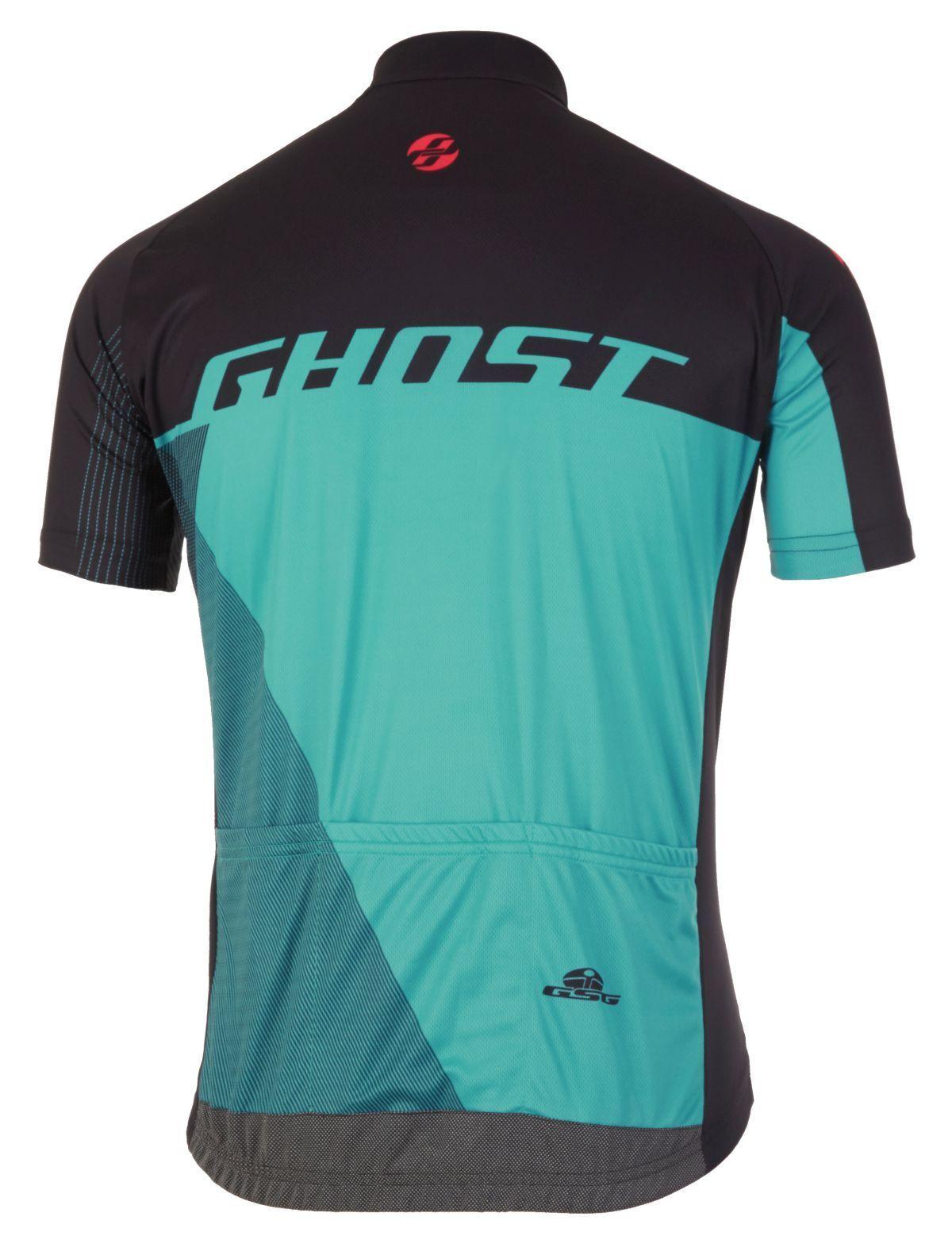 Ghost Performance Evo Jersey Short, Short, Jersey schwarz-blau-blau, Größe XS, Fahrrad-Trikot d96669