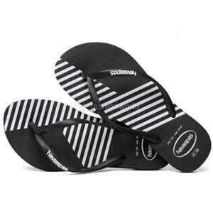 bc6e2cd267ec30 Details about New Women Havaianas Slim Color Block Sandals Flip Flop Shoes  Flat Black 5 6 7 8