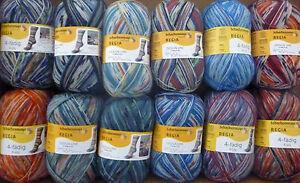 Arne-amp-Carlos-4ply-Sock-yarn-x-100g-Lots-of-colours-Design-Line-by-Regia