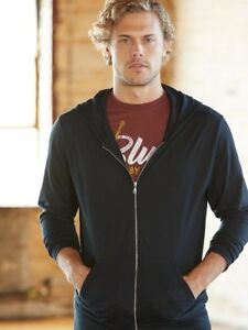 Anvil-Triblend-Hooded-Full-Zip-T-Shirt-6759