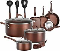 14Pcs NutriChef Nonstick Cooking Kitchen Cookware Pots and Pans Deals
