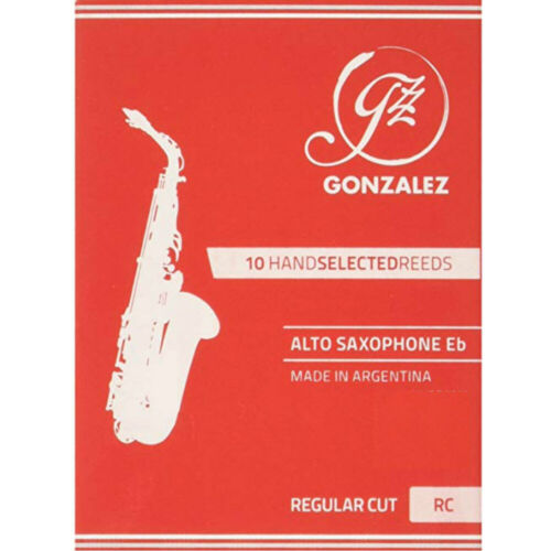 Box of 10 Gonzalez Eb Alto Saxophone Reeds Strength 2.5