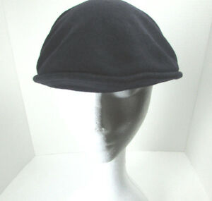 9ced91b7ee1 Vintage Kangol Black Wool Cap Hat Cabbie Newsboy Made in UK Size ...