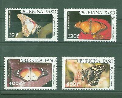 Schmetterlinge Edelfalter Butterflies Papillons Nr 972-975 Aromatischer Geschmack 100% Wahr Burkina Faso 1984