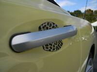 Leopard Skin Auto Accessory Car Door Handle Scratch Guard Cover Fit All 4pk