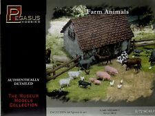 PEGASUS 7052. FARM ANIMALS. 1:72 SCALE. Cows, pigs, sheep, goats, poultry etc...