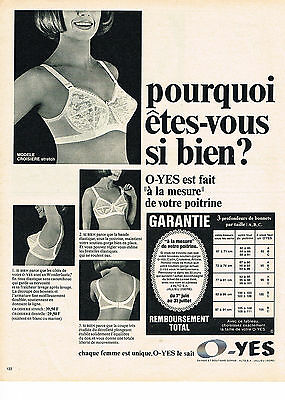 Fine Publicite Advertising 1967 O-yes Soutien Gorge Other Breweriana