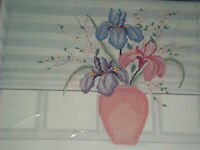 Candamar Designs IRIS VASE PICTURE Something Special Counted Cross Stitch Kit