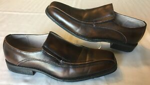 e34dfa6de79e J Ferrar JF Mens Size 10 M Dress Shoes Brown Slip On Loafer Bicycle ...