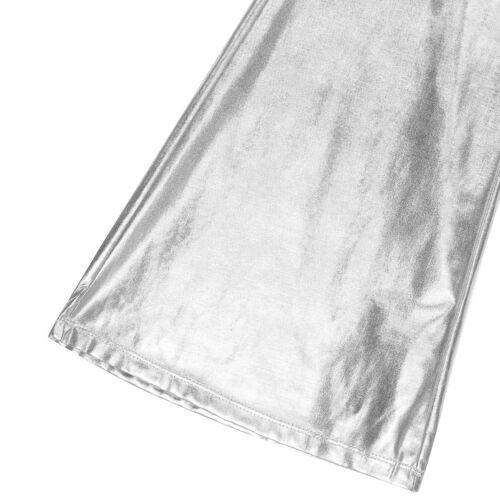 Disco Men/'s Flare Pants Wet Look Faux Leather Long Pants Stretchy Trousers M-XL