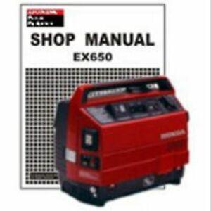 HONDA EX650 GENERATOR SERVICE AND USER MANUALS ON CD