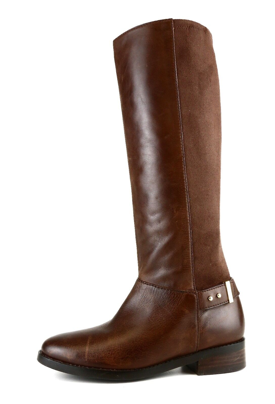 Cole Haan Adler Tall Leather Suede Boot Brown Women Sz 5.5 B 5560