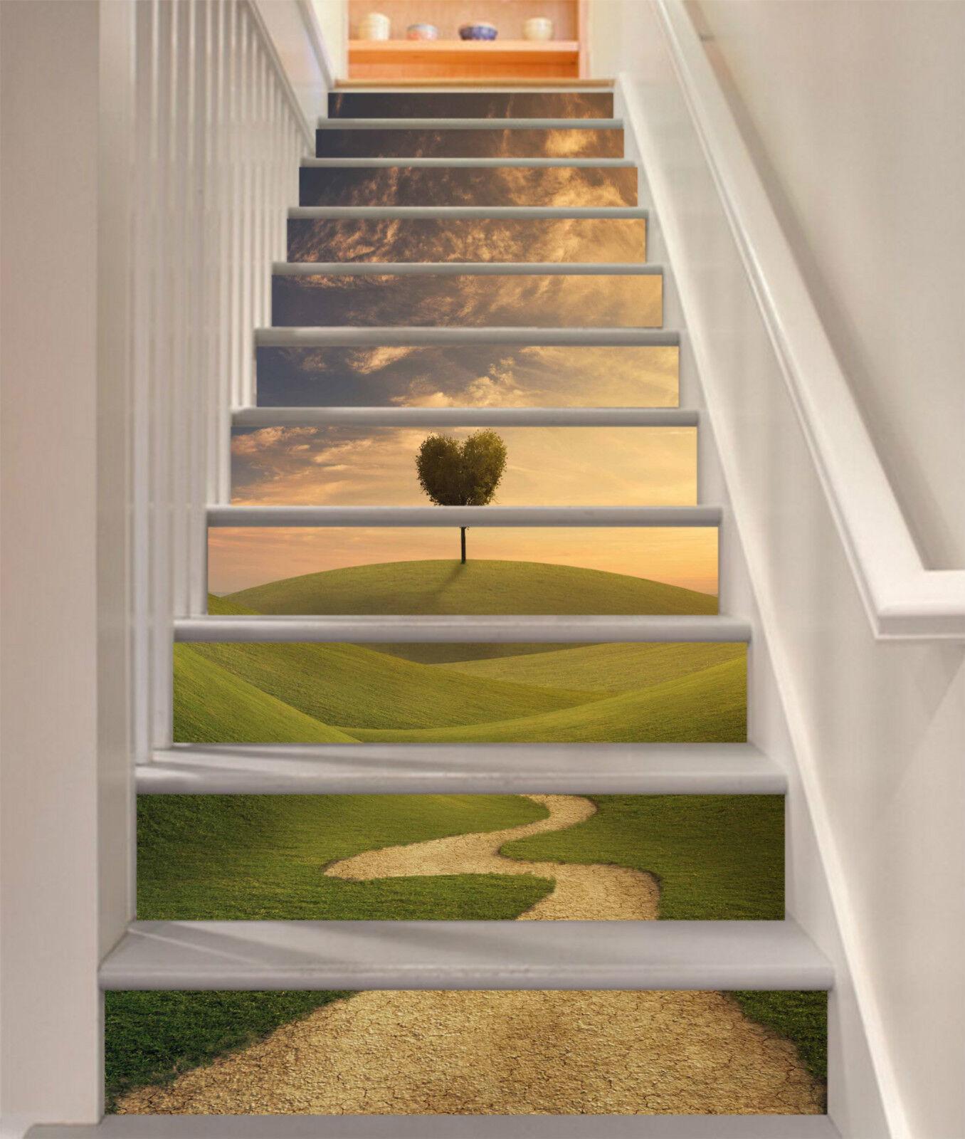 3D Hang Baum 724 Stair Risers Dekoration Fototapete Vinyl Aufkleber Tapete DE